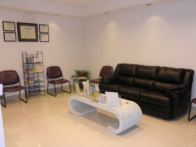 Relax in our comfortable waiting room